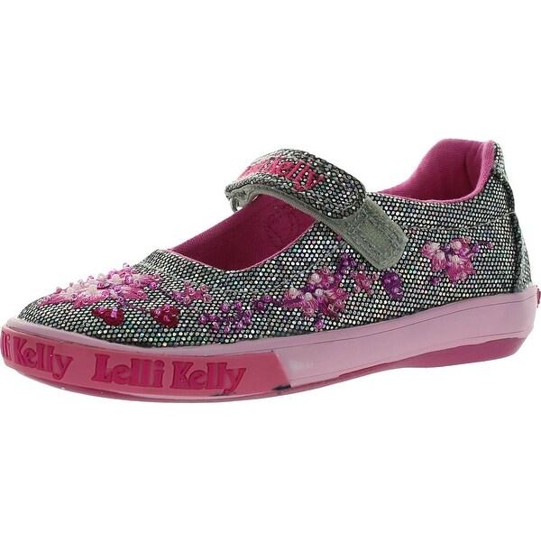 4933f85074 Shop Lelli Kelly Lk8555 Girls Shoes - Pewter Glitter - Free Shipping ...