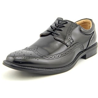 Bruno Marc New York London-03 Men Round Toe Leather Black Oxford