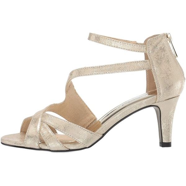 Details about  /Easy Street Women/'s Brilliant Heeled Dress Sandal with Back Zipper Pump