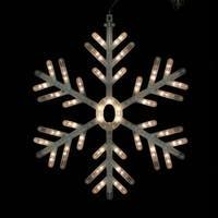 """Kurt Adler UL2301 24"""" White LED Snowflake"""