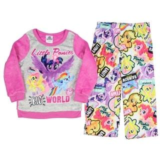 My Little Pony The Movie Girls Fleece Top and Flannel Pants Pajamas (Little Kid/Big Kid)