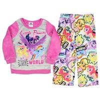 My Little Pony The Movie Girls Fleece Top and Flannel Pants Pajamas (Little Kid/Big Kid)