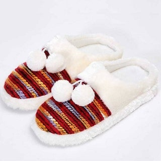 Mad Style Orange Colorful Cozy Knit Slippers