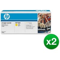 HP 307A Yellow Original Toner Cartridge (CE742A)(2-Pack)