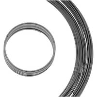 BeadSmith Assorted Memory Wire - Gun Metal Plated - 10 Loops Per Size