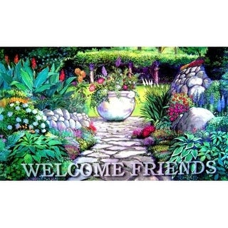 Custom Printed Rugs DM 46 Welcome Garden Gate Door Mat