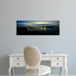 Easy Art Prints Panoramic Image 'Suspension bridge, Golden Gate Bridge, San Francisco Bay, California' Canvas Art