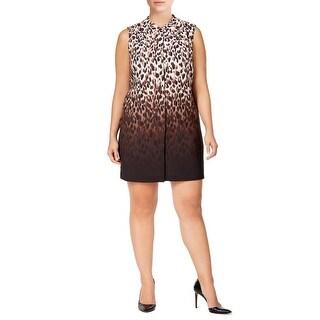 Calvin Klein Animal Print Ombre Shift Day Dress - 18W
