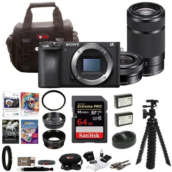 Sony a6500 Mirrorless Camera w/ 55-210mm Lens & 32GB SDHC Accessory Bundle