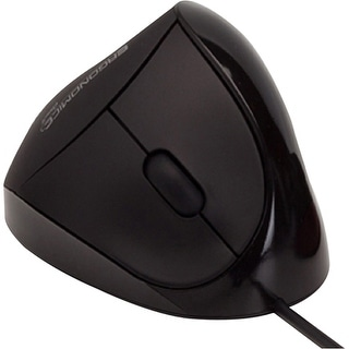 Comfi EM011-BK Comfi USB Black Ergonomic Mouse By Ergoguys - Optical - Cable - Black - USB - 1000 dpi - 5 Button(s) -