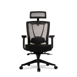 """Vifah A70 Autonomous Smart Office 32"""" Leather Upholstered Wide Mesh Full Back Adjustable Office Chair with Extended Weight Limit"""