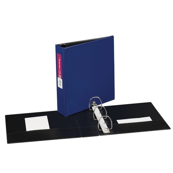 avery 2 in vinyl durable reference binder blue free shipping on