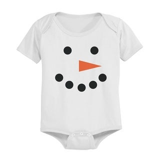 Snowman Baby Snap-on Bodysuit Christmas White Onesie