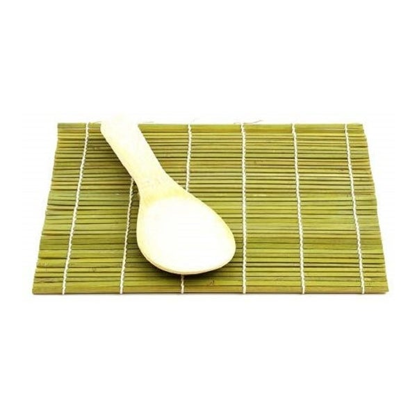 Helen's Asian Kitchen 97025 Natural Bamboo Sushi Mat with Paddle