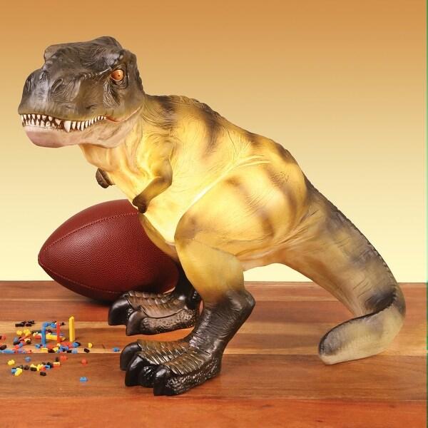 Dinosaur Resin Table Lamp - T-Rex Tyrannosaurus - gray