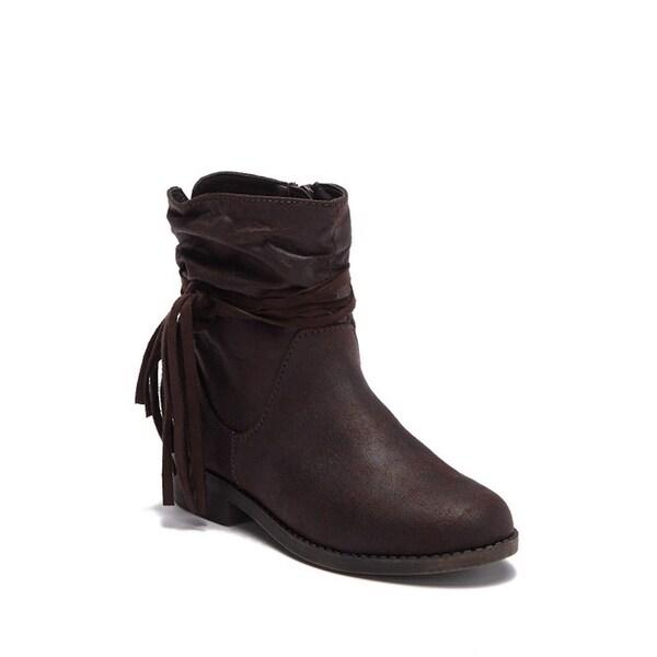 a6052d27bce Shop Kids MINI MIA Girls Little Kamali Mid-Calf Zipper Western Boots ...