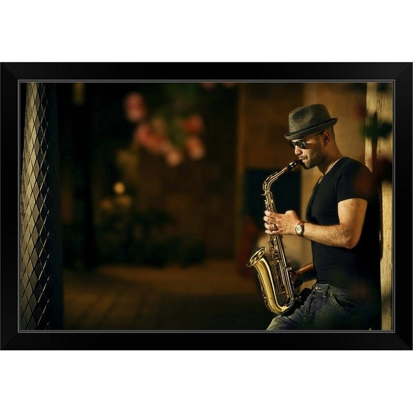 """Mood With Jazz"" Black Framed Print"