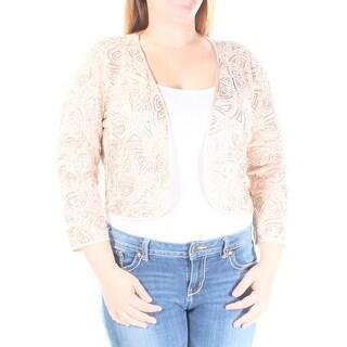$298 TAHARI New Womens 1268 Gold Floral Bolero Jacket 16 B+B