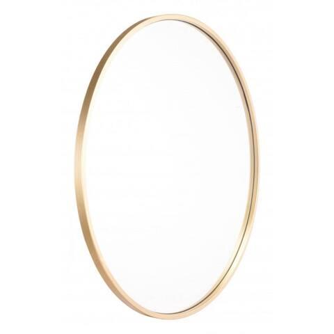"Offex Living Room or Entryway Decorative Modern Eye Mirror - Gold - 1""L x 24.2""W x 24.2""H"