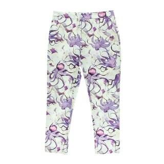 Isolda Womens Printed Flat Front Dress Pants