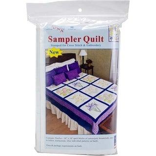 """Flowers - Jack Demspey Stamped Sampler Quilt Blocks 18""""X18"""" 12/Pkg"""