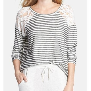 Nordstrom Lingerie NEW Black Women's Medium M Sleepshirt Sleepwear