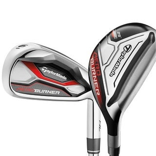 TaylorMade AeroBurner HL Combo Hybrid Irons (#3h-#4h, 5-PW), Graphite Shafts