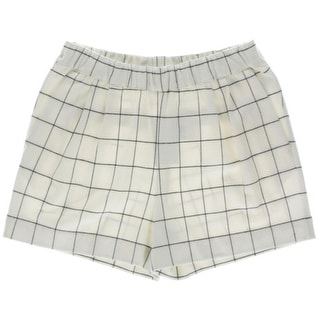 Essentiel Womens Window Pane Flannel Casual Shorts