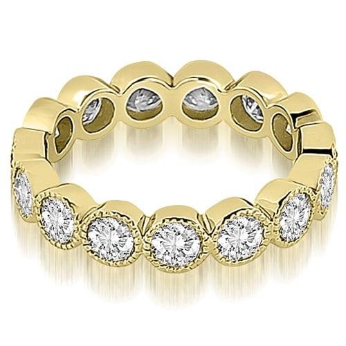 2.10 cttw. 14K Yellow Gold Round Diamond Eternity Ring
