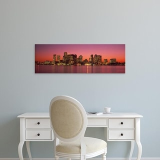 Easy Art Prints Panoramic Images's 'Sunset Boston MA' Premium Canvas Art