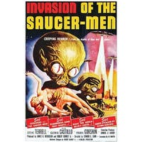 Invasion Of Saucer Men Poster Cling Halloween Decoration
