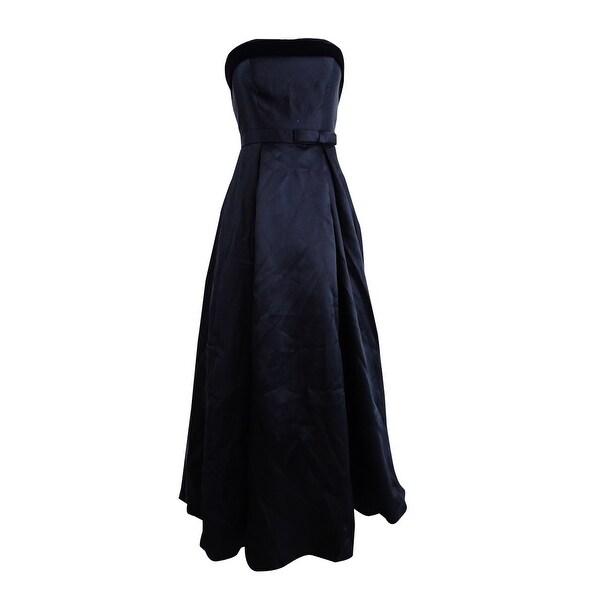 Shop Xscape Women\'s Strapless Velvet-Trim Ball Gown - Black - On ...