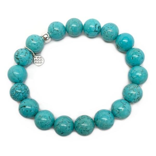 """Turquoise Magnesite Eternal 7"""" Bracelet"""