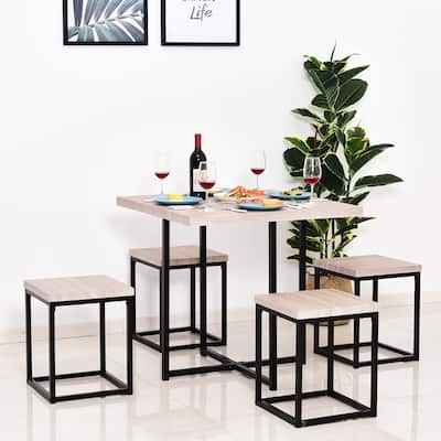 Porch & Den Penn Wood/ Steel Compact 5-piece Dining Table Set