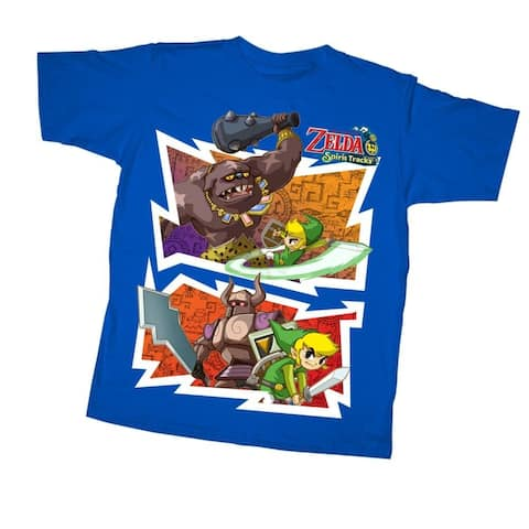 The Legend of Zelda Spirit Tracks Fight Night Youth Royal Blue T-Shirt