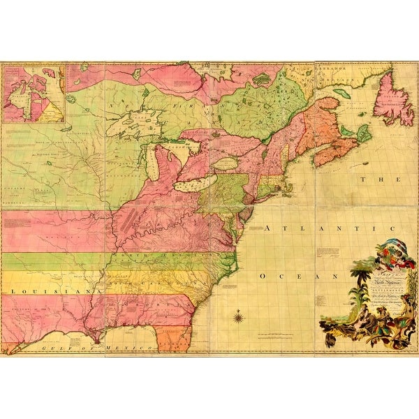 Map Of America History.1855 Map Of The British And French Dominions In North America History