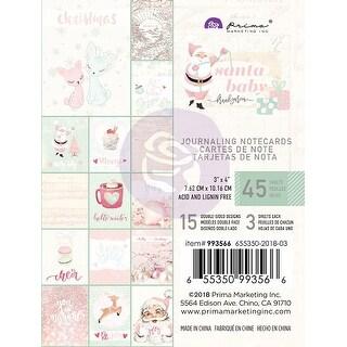 "Santa Baby Journaling Cards Pad 3""X4"" 45/Pkg-15 Designs/3 Each"