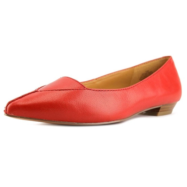 Nine West Timewarp Women Pointed Toe Leather Red Flats