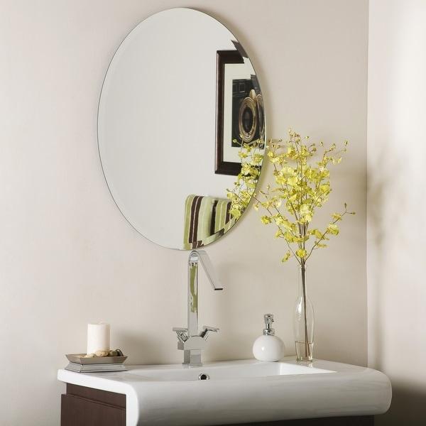 Odelia Bevel Frameless Wall Mirror - Silver. Opens flyout.