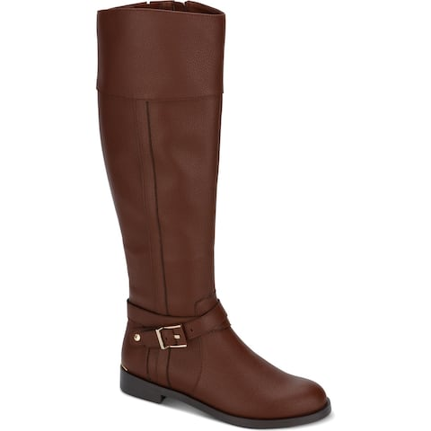Kenneth Cole Reaction Womens Wind Riding Riding Boots Faux Leather Tall