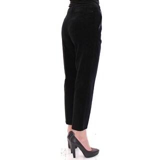 Dolce & Gabbana Dolce & Gabbana Black Cotton Cropped Corduroys Jeans Pants - it40-s