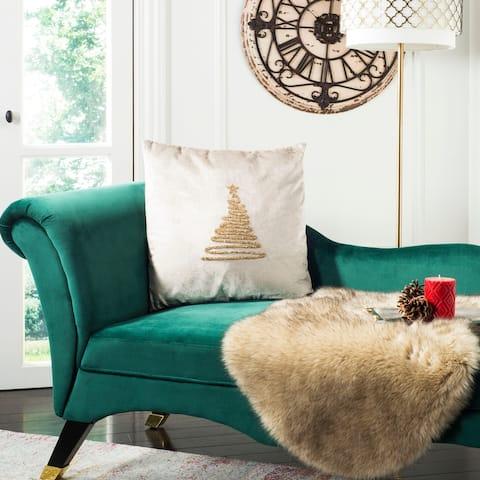 SAFAVIEH Holiday Enchanted Evergreen 20-inch Decorative Pillow