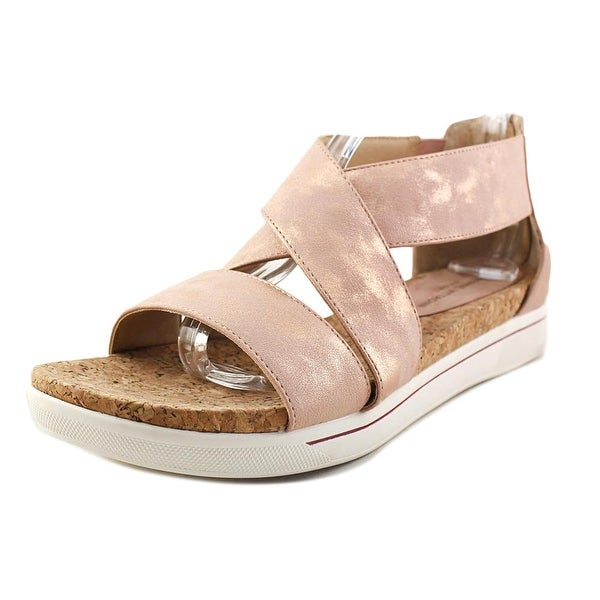 5029f4814899 Shop Adrienne Vittadini Claud Women Open Toe Synthetic Pink Platform ...