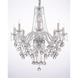 Crystal Chandelier Lighting 8 Light Fixture
