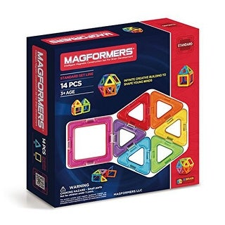 Magformers 14-Piece Magnetic Construction Set