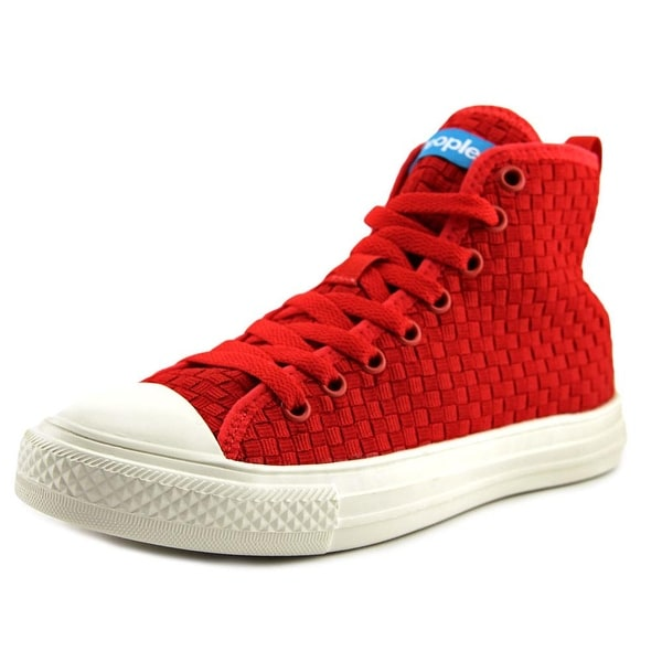 People Footwear The Phillips High Women Round Toe Synthetic Red Sneakers