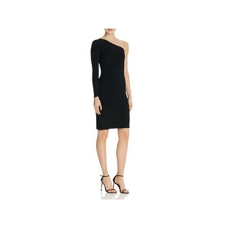 Elizabeth and James Womens Brittany Bodycon Dress Ribbed Trim One Shoulder (4 options available)