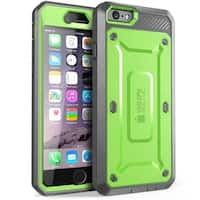 iPhone 6S Case, Supcase, Apple iPhone 6 Case Rugged Holster with Built-in Screen Protector-Green/Gray