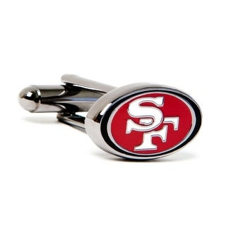 Silver Plated San Francisco 49ers Cufflinks