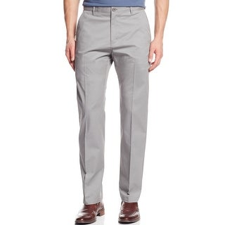 Calvin Klein NEW Gray Mens Size 30x30 Classic-Fit Flat Front Pants